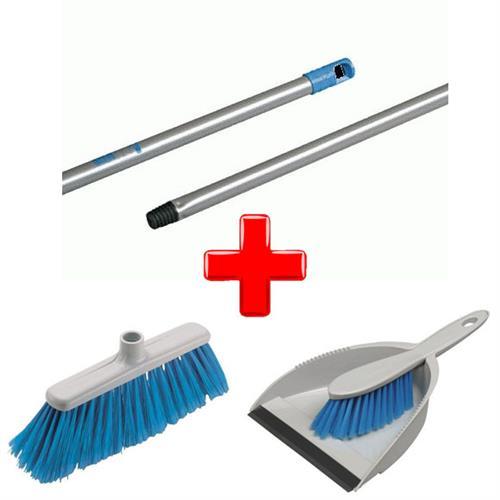Vileda Eco Broom Set + Stick + Dustpan cu perie