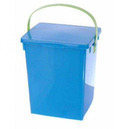 Container de praf Albastru Verde alb lucios