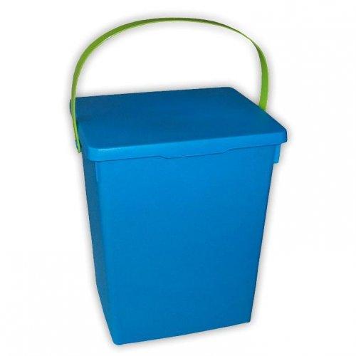 Container de pulbere albastru verde alb mat
