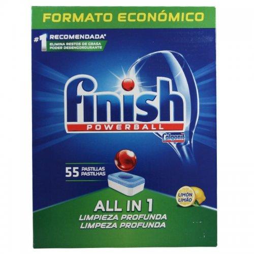 Finish Tablete de spălat vase Powerball 55 buc Lămâie