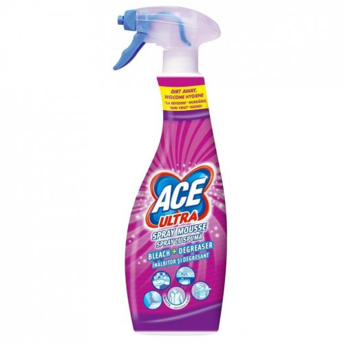 Ace Ultra Foam Stain Remover Spray 700 ml proaspăt roz Procter Gamble