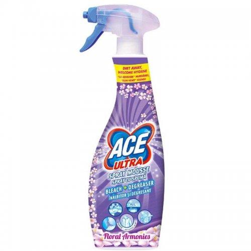 Ace Ultra Foam Stain Remover Spray 700ml Flower Purple Gamble Procter