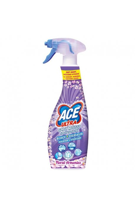 spumele - Ace Ultra Foam Stain Remover Spray 700ml Flower Purple Gamble Procter -
