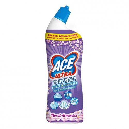 Ace Ultra Toaletă Gel de 750 ml Flori Purple Procter Gamble