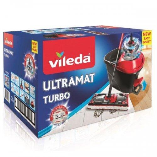 Vileda Ultramat Turbo Flat 158632 Mop + Set cu găleată