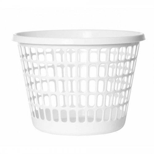 Coș rotund de rufe 32l alb 1009 Plast Team
