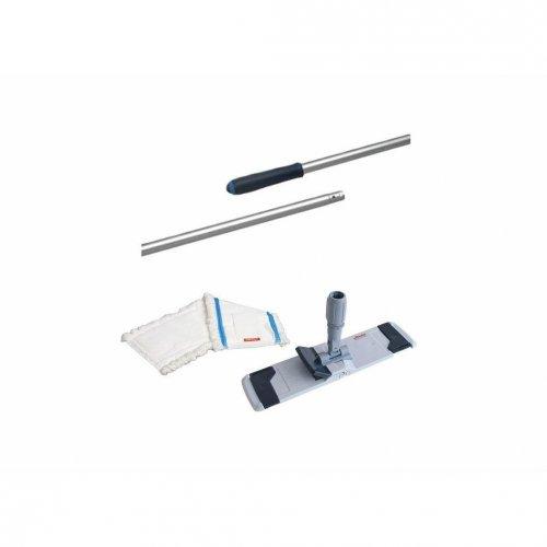 Set suport de mop 50cm +3 x reîncărcare mop plată microspeed + stick Vileda profesional de 145 cm