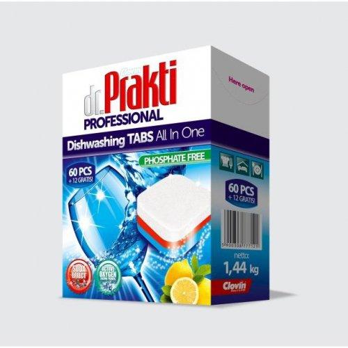 Dr.Prakti tablete de spălat vase 60 + 12buc Clovin