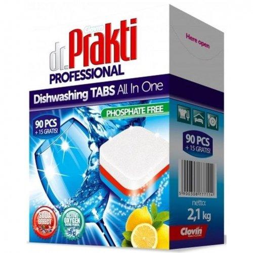 Dr.Prakti Tablete de spălat vase 90 + 15 buc Clovin