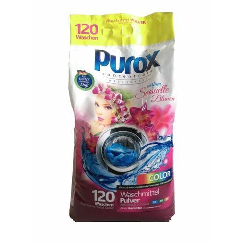 Pudră de spălat Purox Culoare parfumată 9,2 Kg Parfum Sensuelle Blumen