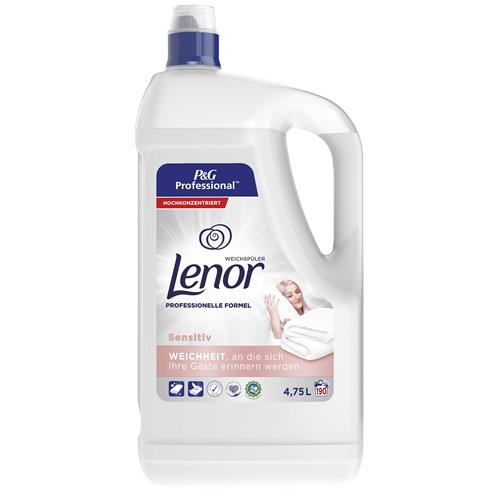 Lenor Clătire lichidă 4.75l Alb 190 Sensibil la spălare