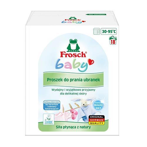 Pudră de spălat Frosch pentru îmbrăcăminte pentru copii 1,21 kg