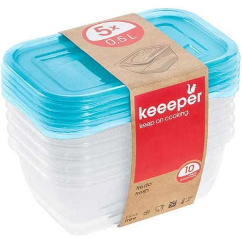 Set de containere Fredo Fresh 5x0,5l 3067