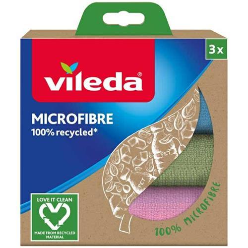Vileda Ścierka Mikrofibra 100% Recycled 3 szt 168310